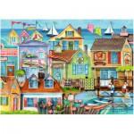 Puzzle  Ravensburger-19602 Along the Wharf back