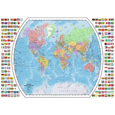Puzzle Ravensburger-19633 Political World Map