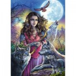 Puzzle  Ravensburger-19664 Patroness of Wolves