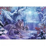 Puzzle  Ravensburger-19704 Wnter Wolves