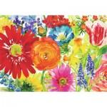 Puzzle  Ravensburger-19729 Abundant Blooms