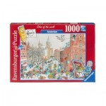 Puzzle  Ravensburger-19789 Fleroux - Amsterdam in Winter