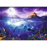 Puzzle  Ravensburger-19791 Whales in the Moonlight