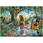 Puzzle  Ravensburger-19837 Adventure in the Jungle