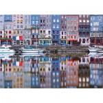 Puzzle  Ravensburger-19867 Honfleur Harbour, France