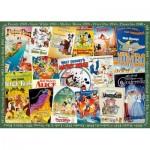 Puzzle  Ravensburger-19874 Vintage Posters Disney