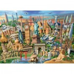 Puzzle  Ravensburger-19890 World Landmarks