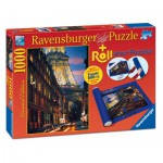 Ravensburger-19912 Paris, 1000 Pieces Puzzle + Roll your Puzzle