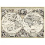 Puzzle  Ravensburger-19931 Do it Yourself - Antique World Map