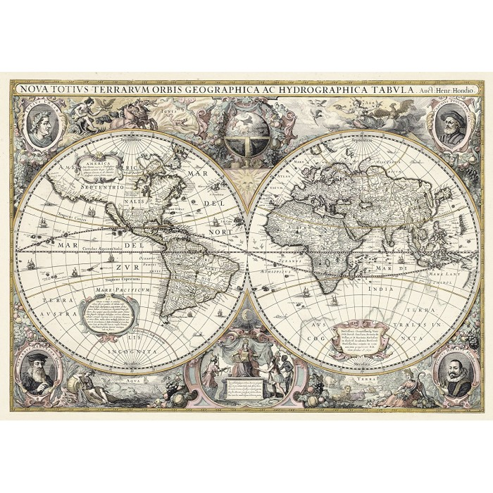 Do it Yourself - Antique World Map