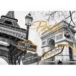 Puzzle  Ravensburger-19935 Do it Yourself - Golden Paris