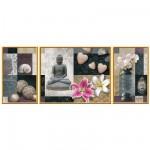 Puzzle  Ravensburger-19992 Triptych - Zen