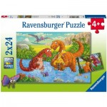 2 Puzzles - Dinosaurs
