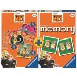 Ravensburger-21309 3 Jigsaw Puzzles + Memory - Minions