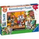 3 Puzzles - 44 Cats