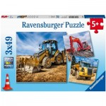 3 Puzzles - Construction Vehicles in use