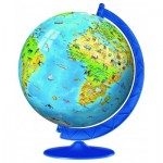 3D Jigsaw Puzzle - World Map in German