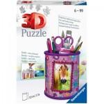 3D Puzzle - Pencil Cup - Horses