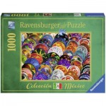 Colorful Plates 1000 piece jigsaw puzzle