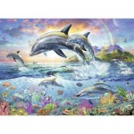 Puzzle   Coloring Booklet - Colorful Underwater World