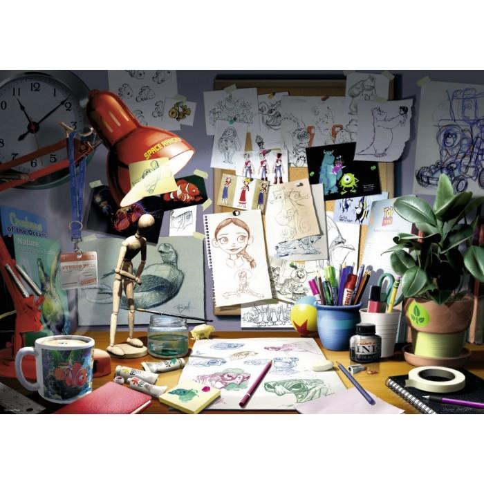 Disney Pixar - The Artist's Desk Puzzle 1000 pieces
