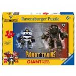 Floor Puzzle -  Robot Trains