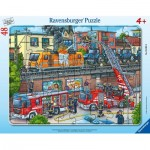 Frame Puzzle - Firefighters in Action
