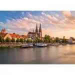 Puzzle   Regensburg, Blick auf die Altstadt