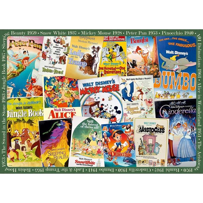 Vintage Posters Disney Puzzle 1000 pieces