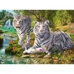 Puzzle   White Tiger Family