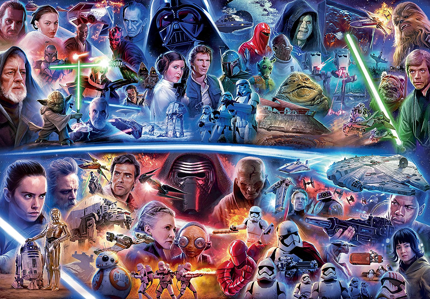 puzzle star wars galactic time travel ravensburger 17827 18000 pieces jigsaw puzzles posters. Black Bedroom Furniture Sets. Home Design Ideas