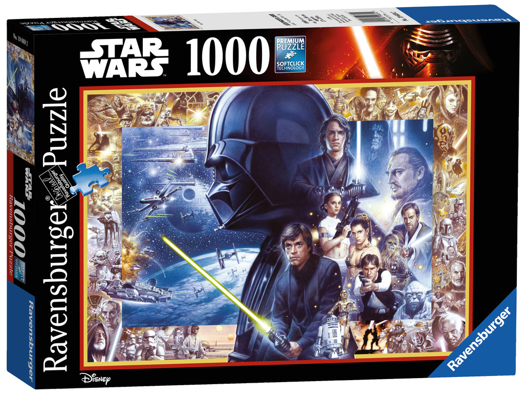 puzzle star wars ravensburger 19669 1000 pieces jigsaw puzzles other disney jigsaw puzzle. Black Bedroom Furniture Sets. Home Design Ideas