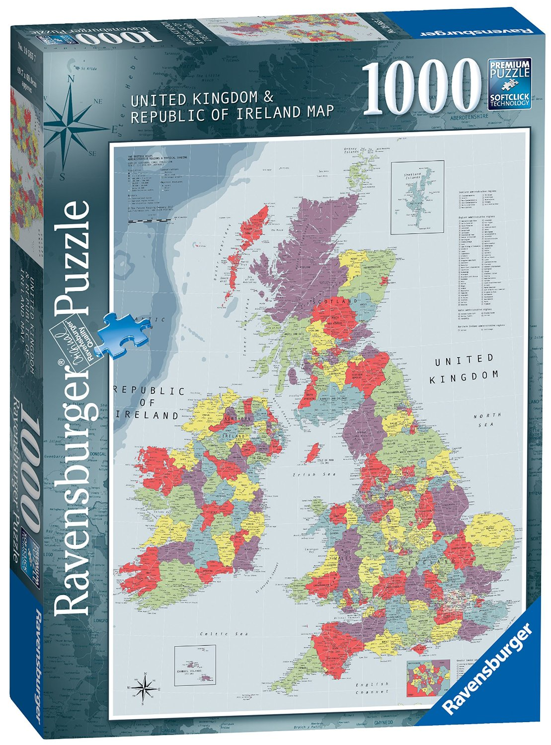 Puzzle united kingdom and republic of ireland map ravensburger 19565 united kingdom and republic of ireland map puzzle ravensburger 19565 united gumiabroncs Images