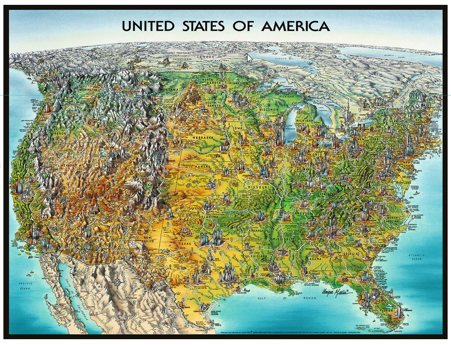USA Map Puzzle USA Map Ravensburger 16313