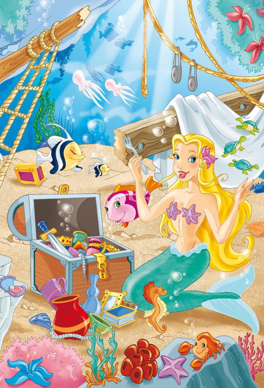 2 puzzles the beautiful mermaid schmidt spiele 56113 26 pieces jigsaw puzzles fantastic. Black Bedroom Furniture Sets. Home Design Ideas
