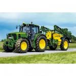 Schmidt-Spiele-55625 Jigsaw Puzzle - 40 Pieces - Tractor 6630 : John Deere Irrigator with a Tractor