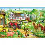 Schmidt-Spiele-56003 Jigsaw Puzzle - 100 Pieces - Happy Farm