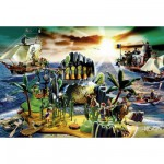 Schmidt-Spiele-56020 Jigsaw Puzzle - 150 Pieces - Playmobil : Pirate Island with Pirate Figure