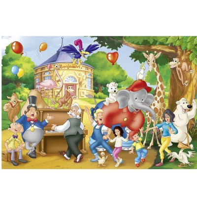 Schmidt-Spiele-56023 Jigsaw Puzzle - 40 Pieces - Benjamin : Party at the Zoo