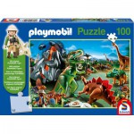 Puzzle  Schmidt-Spiele-56042 Playmobil: The land of Dinosaurs