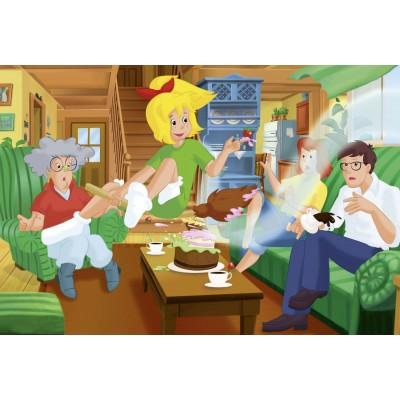 Puzzle Schmidt-Spiele-56047 Bibi and Tina: Birthday Surprise