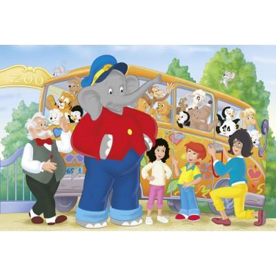 Puzzle Schmidt-Spiele-56049 Benjamin Blümchen: Trip to the Zoo
