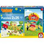Schmidt-Spiele-56076 2 puzzles Benjamin Blümchen: Having fun with Benjamin
