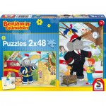 Schmidt-Spiele-56097 2 Jigsaw Puzzles - Benjamin the Elephant