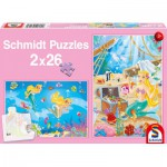 Schmidt-Spiele-56113 2 puzzles: the beautiful mermaid