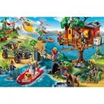 Puzzle  Schmidt-Spiele-56164 Playmobil, Treehouse