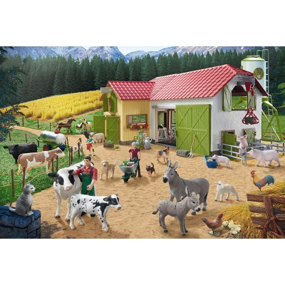 Puzzle Schmidt-Spiele-56189 A Day at the Farm