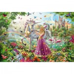 Puzzle  Schmidt-Spiele-56197 Beautiful Fairy in the Magic Forest