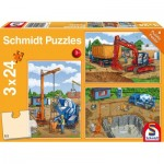 Schmidt-Spiele-56200 3 Puzzles - The Construction Site
