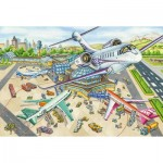 Puzzle  Schmidt-Spiele-56206 One Day at the Airport